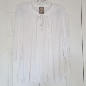Dolan white peasant blouse size small